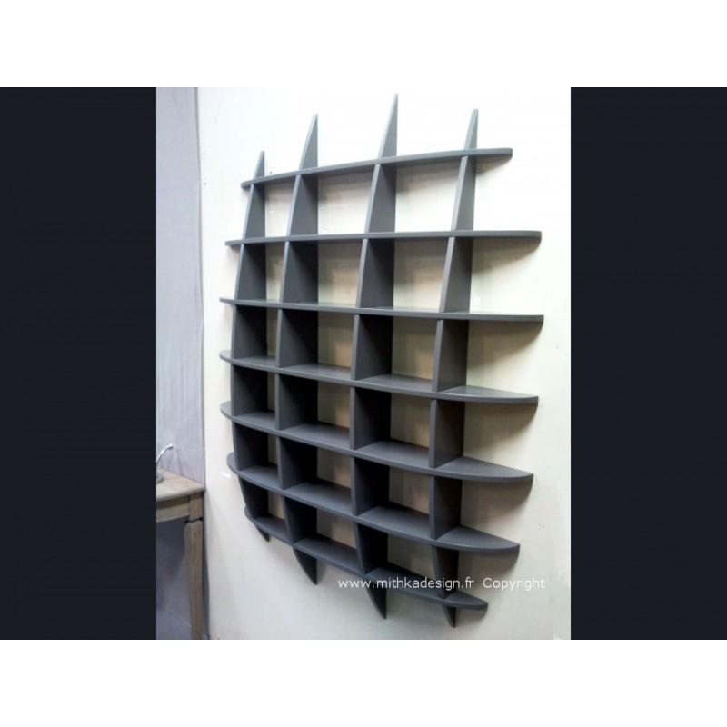 biblioth que murale retento ovoide mithka design. Black Bedroom Furniture Sets. Home Design Ideas