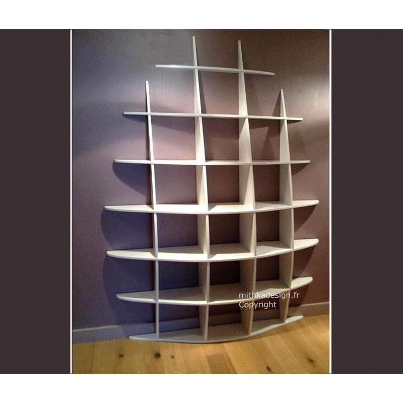 biblioth que murale retento haute2 mithka design. Black Bedroom Furniture Sets. Home Design Ideas