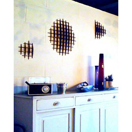Décoration murale en relief RETENTO 3 éléments