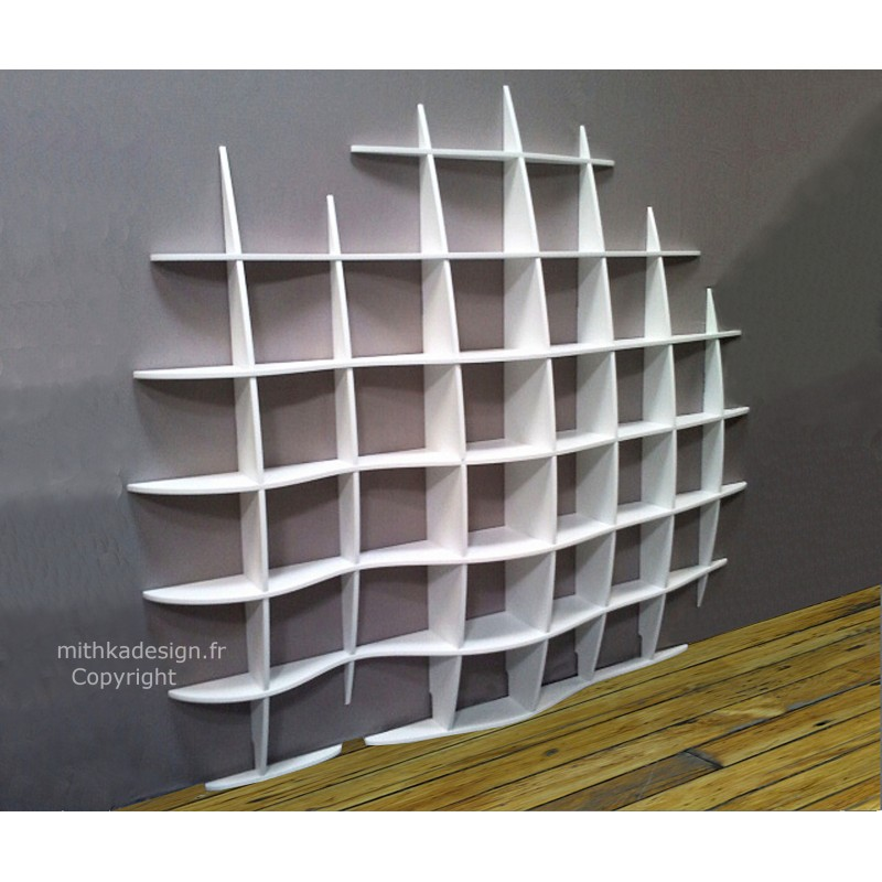 fabrication etagere murale biblioth que murale retento vague mithka design