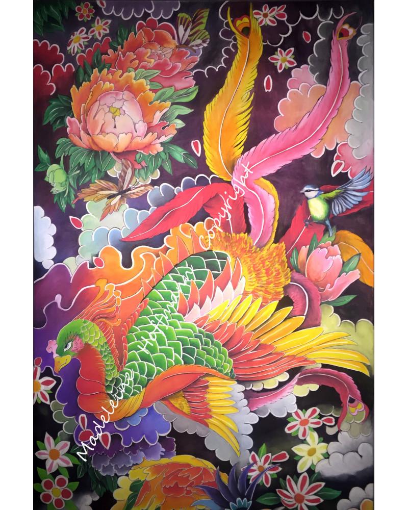 Peinture Tatouage Japonais Grand Phoenix MM